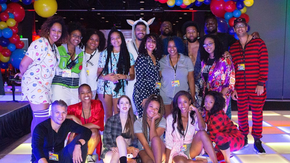 "BACK ROW: Adrienne Reed (Co-Founder, Hamba LLC), Tracey D. Lincoln (Amber & Tracey, LLC), Amber Jex (Amber & Tracey, LLC), LeAnn Scrimmager, Alex Wilder (Wilder Productions), Yadira Espinal (Trap Heals), Oto Attah (Trap Heals), Summer Adams, DJ Benjamin Walker, Christa Ann Davis, Jalen Blot (Blue Drop Productions), DJ Jeff Behavior  FRONT ROW: Nicholas Riggal, DJ Shai, Julia Matzenger, Ashlee Huddleson, Alexis Moore, Shante Reaux  NOT PICTURED: Akil Moore, Akil ""Thrill"" Harrison, Ivan ""Tiggz McGee, Breanna Jones, Tyree Vance"