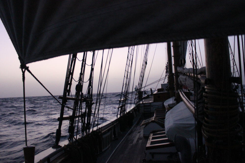 Early morning on the Atlantic