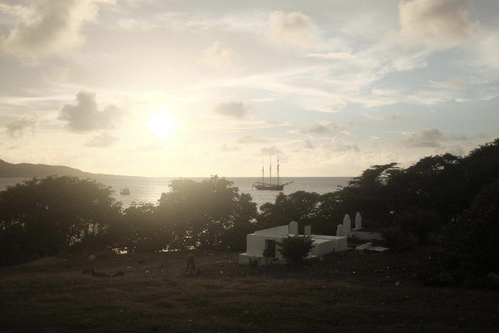 Sunset in Albert's bay