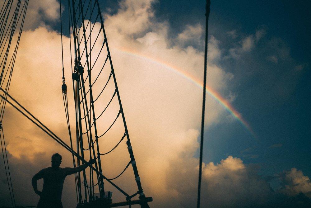 Andri under the rainbow