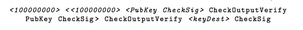 A recursive covenant output scheme