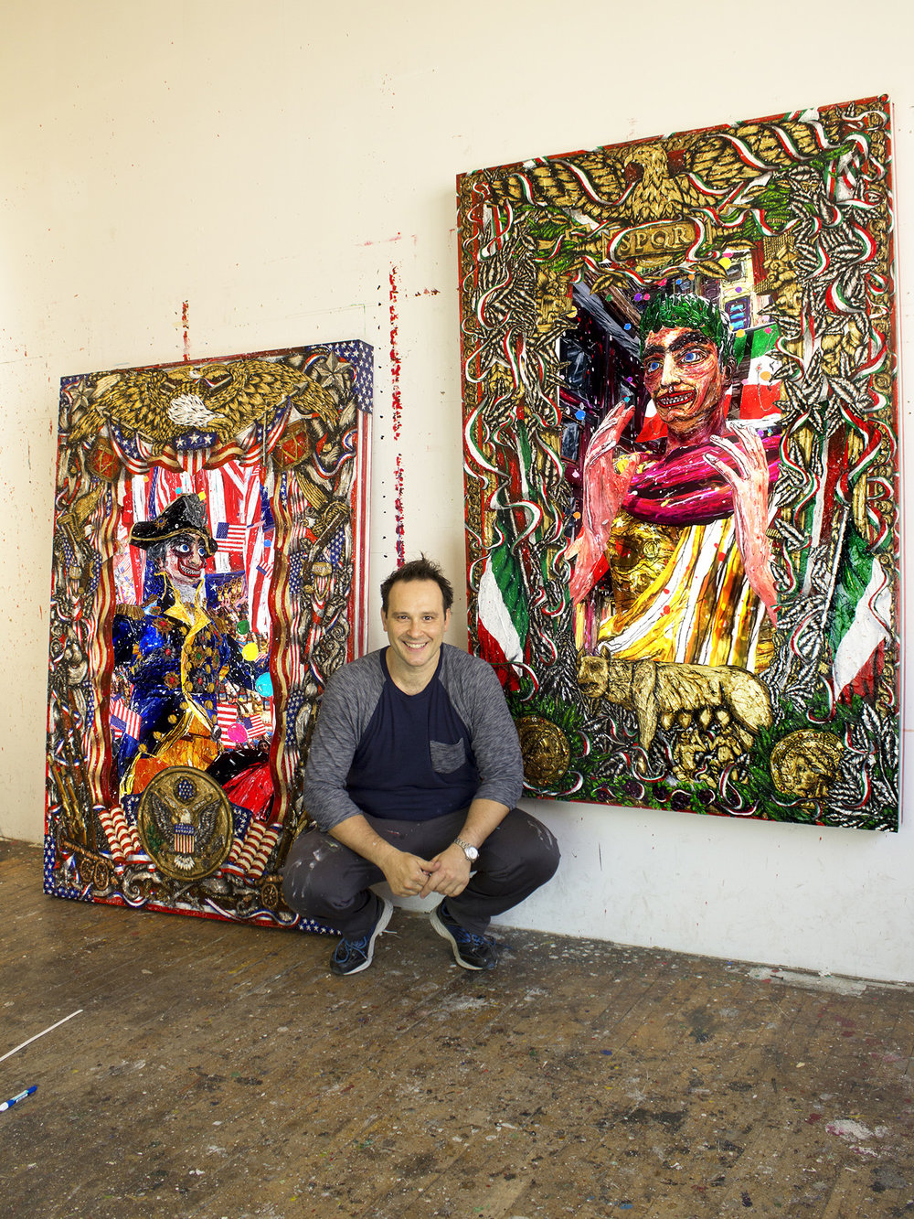 Federico Solmi at his Brooklyn, New York studio.