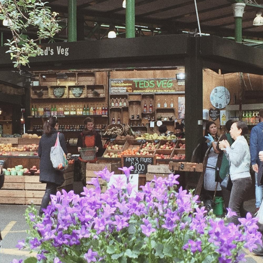 London Borough Market Flowers and Fruit