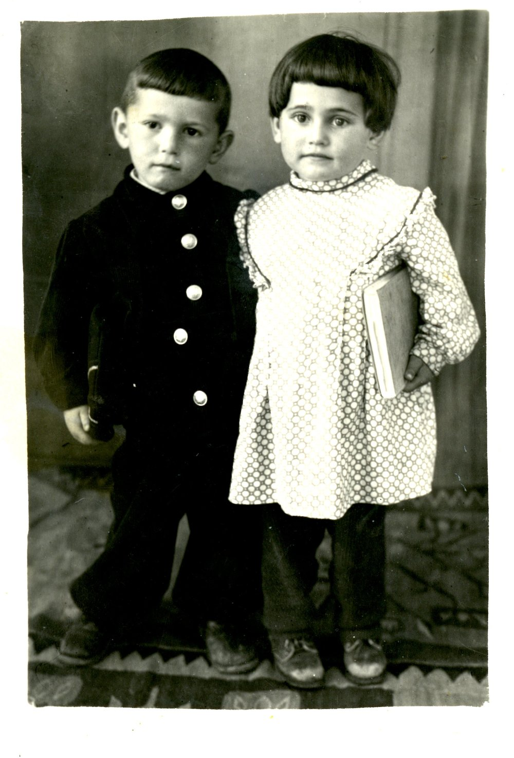 Khana's half-brother, Chaim, and cousin, Faga, named after Khan's grandparents who were killed in Soroka by the Germans
