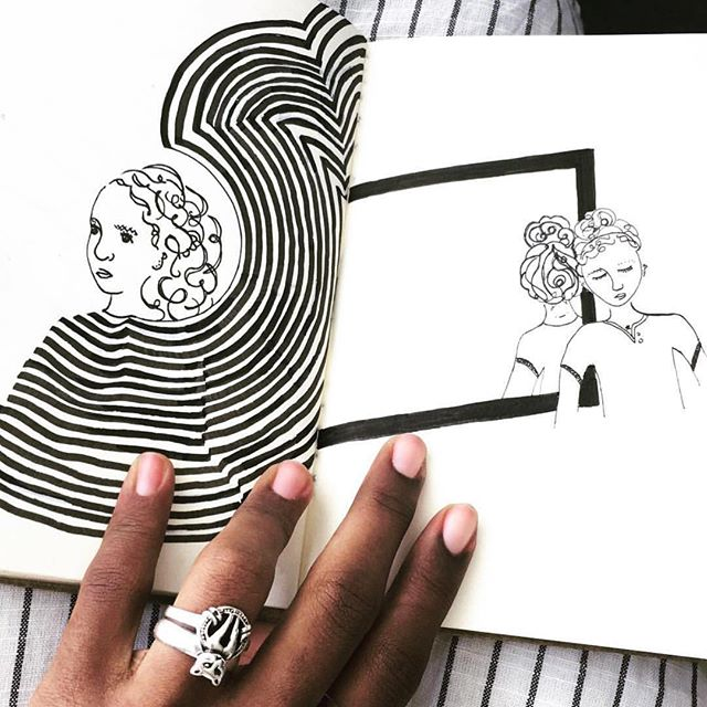 Scrolling down the feed and noticing the sweetest illustrations by @fatimas_art