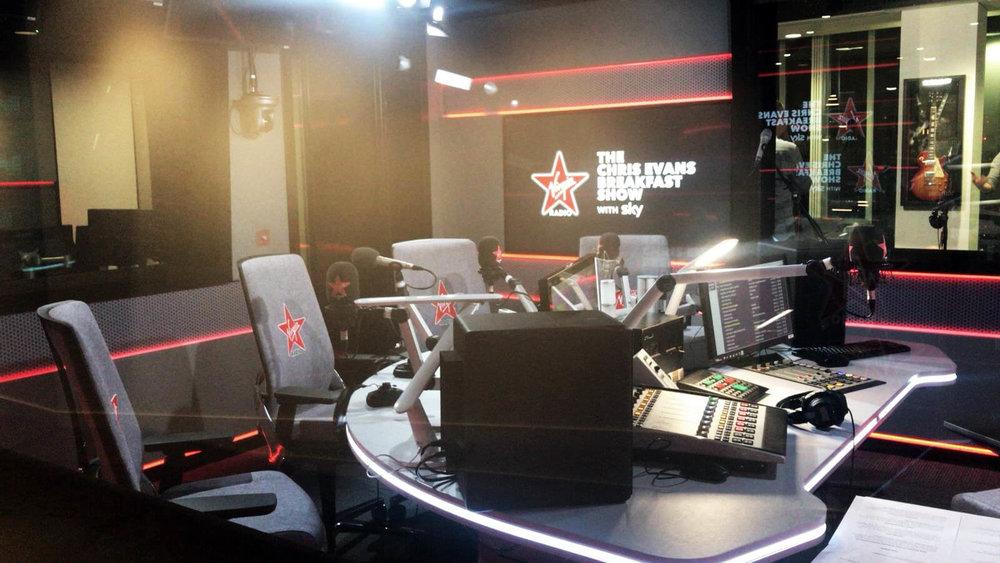 Video production agency in London filming Chris Evans radio