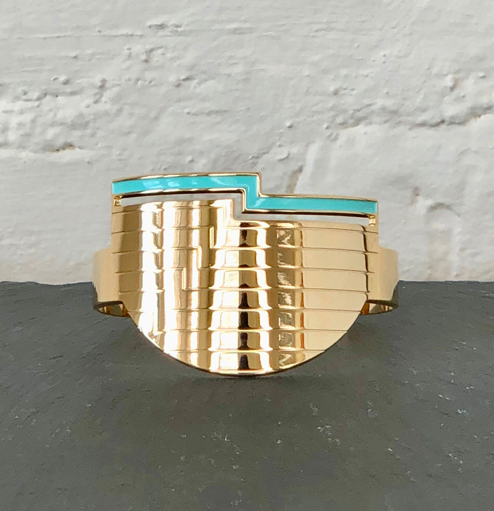 Anne Thomas Odyssee blue Cuff