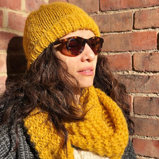 Thunder scarf with sparkle beanie #slowfashion #charlottesometime #frenchdesigner @luceandarmelle