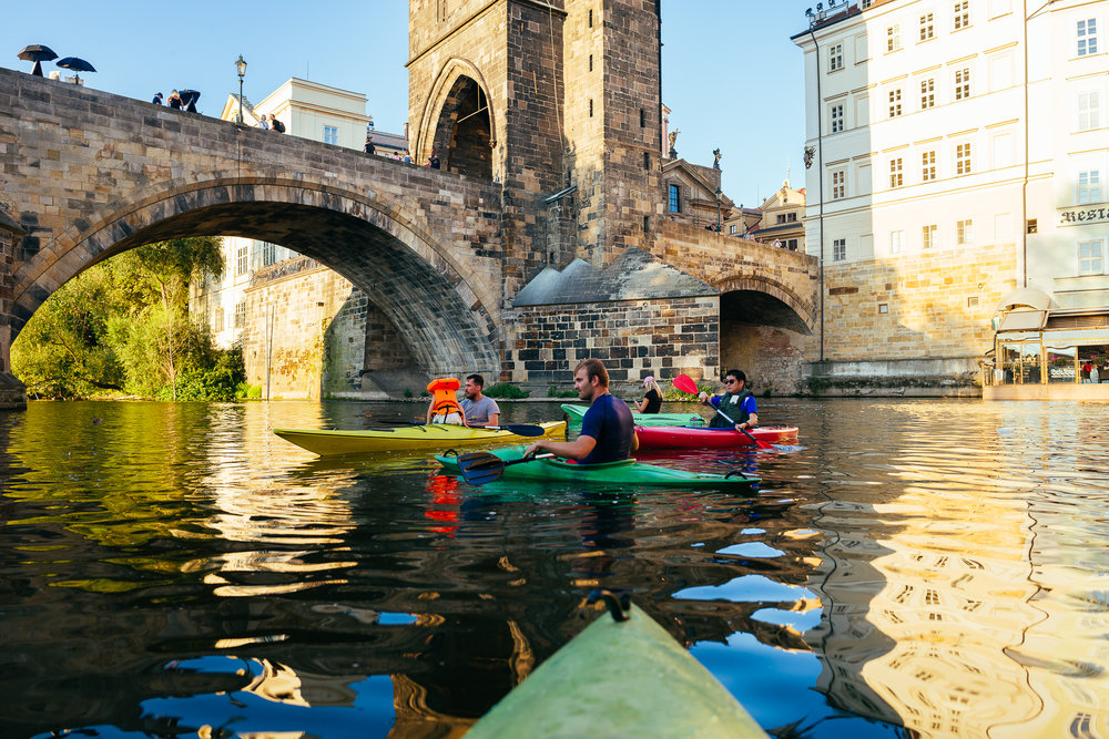 prague off the grid kayaking
