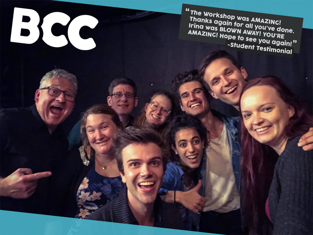 - We teach students to fearlessly create from a place of joy and fierceness and perform as professional comedians. Our curriculum culminates in you creating your own content through improv.All students in six-week classes get into BCC shows for free on standby basis.