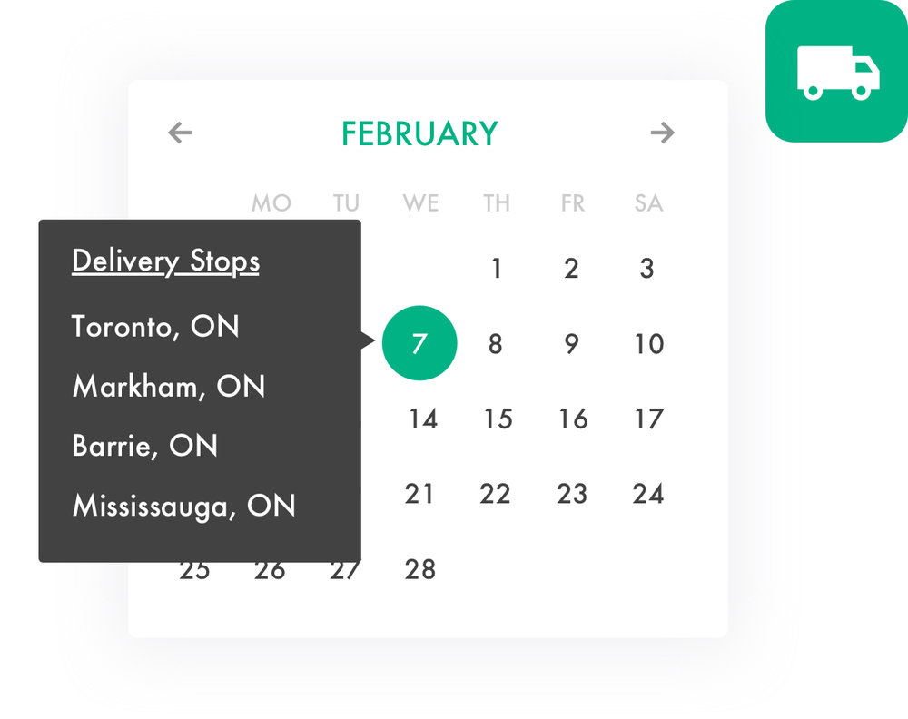 Schedule deliveries to maximize profit - Set your own delivery days, order minimums, and lead times. Plan delivery routes and share them with your driver.