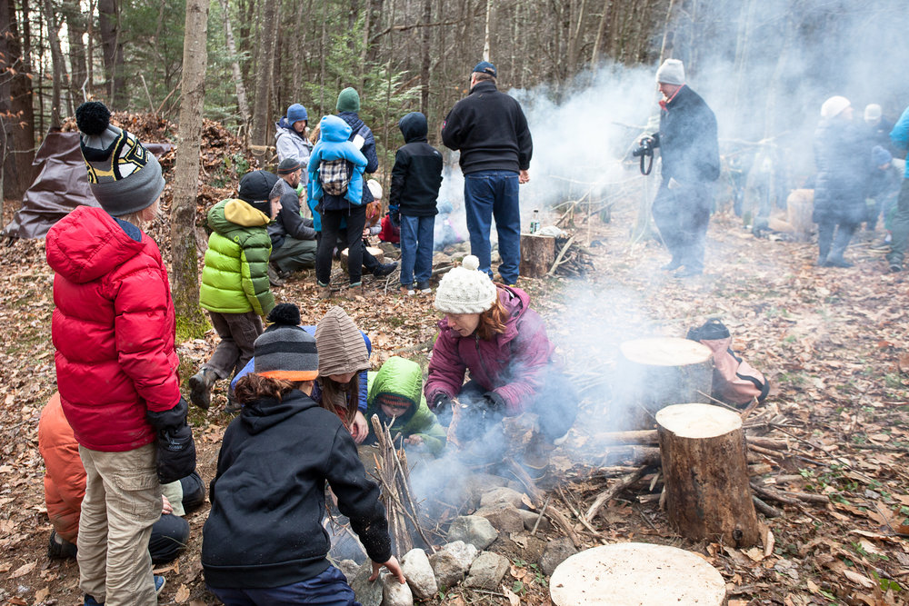 Over 50 parents and children attended a Fire and Shelter Building workshop at TGS in November. The event was hosted by the fifth grade as the culmination of their Science of Survival unit.
