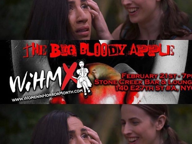 Our short film, Game Over (@gameover_film) directed by our @asabater screens tonight at the The Big Bloody Apple Fest for women in horror month. Thank you to incredible village behind this film! Come through. (Spoiler alert - no blood in ours!)
