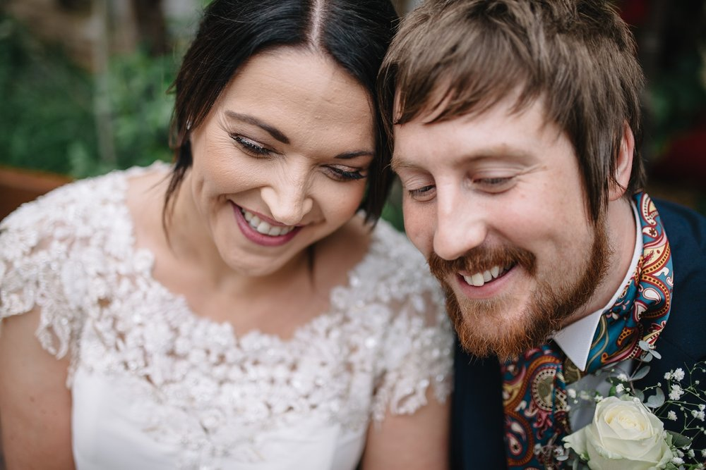 Sheffield wedding photography of bride and groom smiling