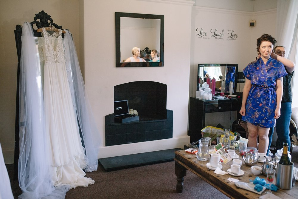 bridal preparations for a Whirlowbrook Hall wedding