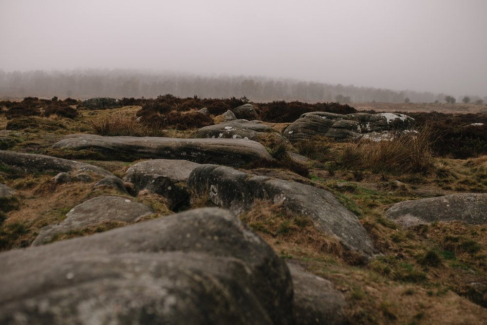 rocky landscape photograph of padley gorge sheffield