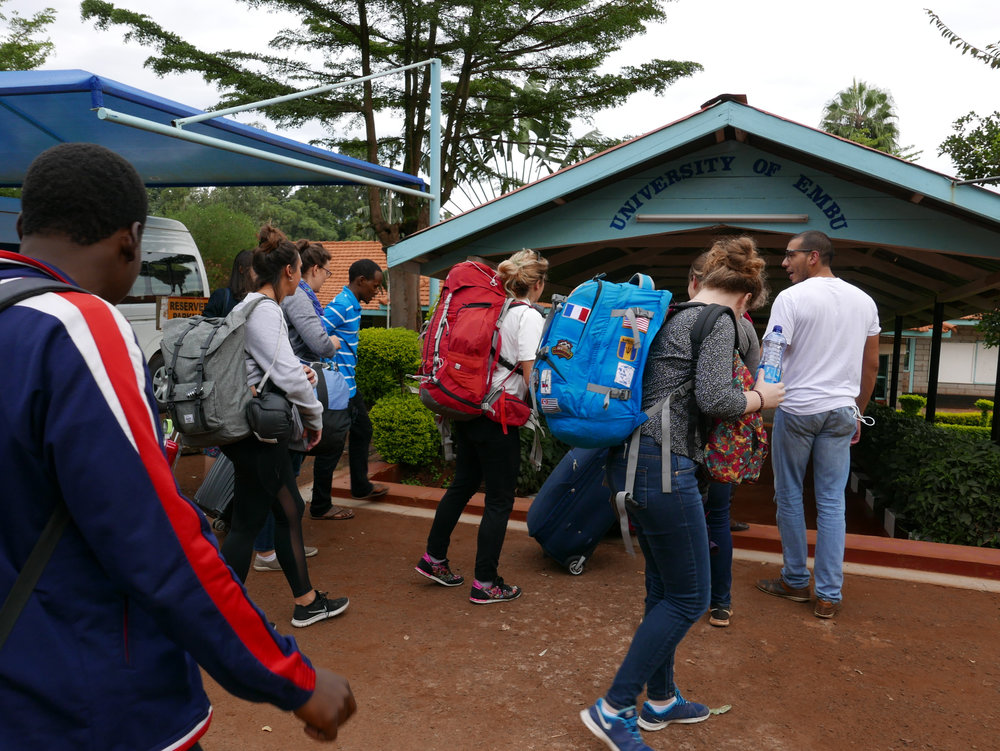 Photo: Arrival at Embu University