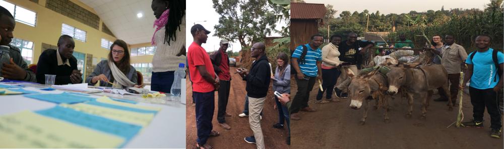 The Valuing Waste Team: Sampson Kofi (Ghana), Julia Bontempo (USA), Anchinbom Ndichia (Cameroon), Ayee Flora Tracy (Uganda), Kelvin Muherekhizi (Kenya). Design Facilitator: David Wanjagi