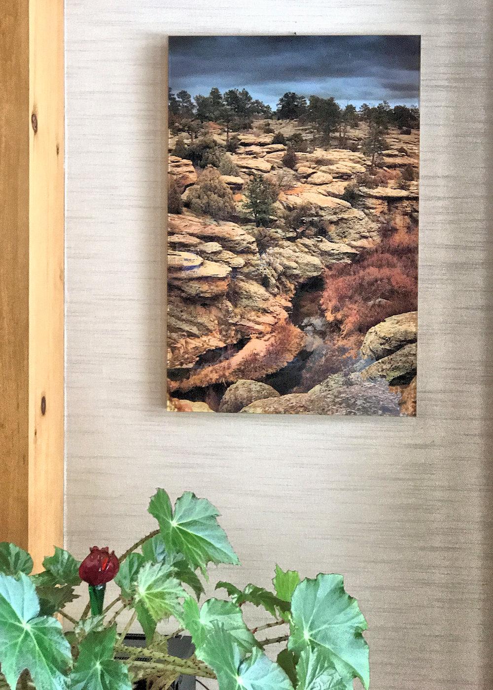 Hidden Canyon - Acrylic print - Residence