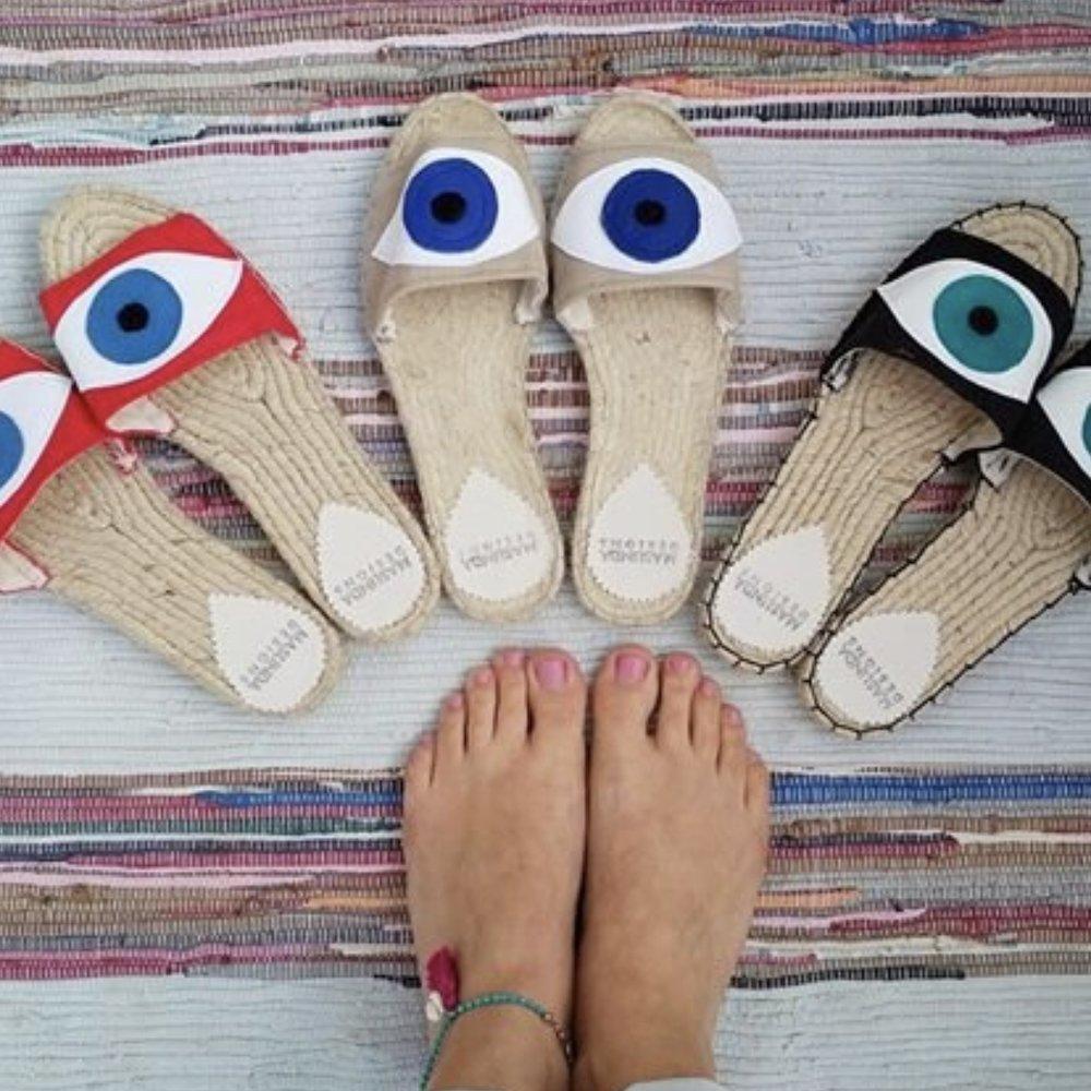 Evil Eye Sandals