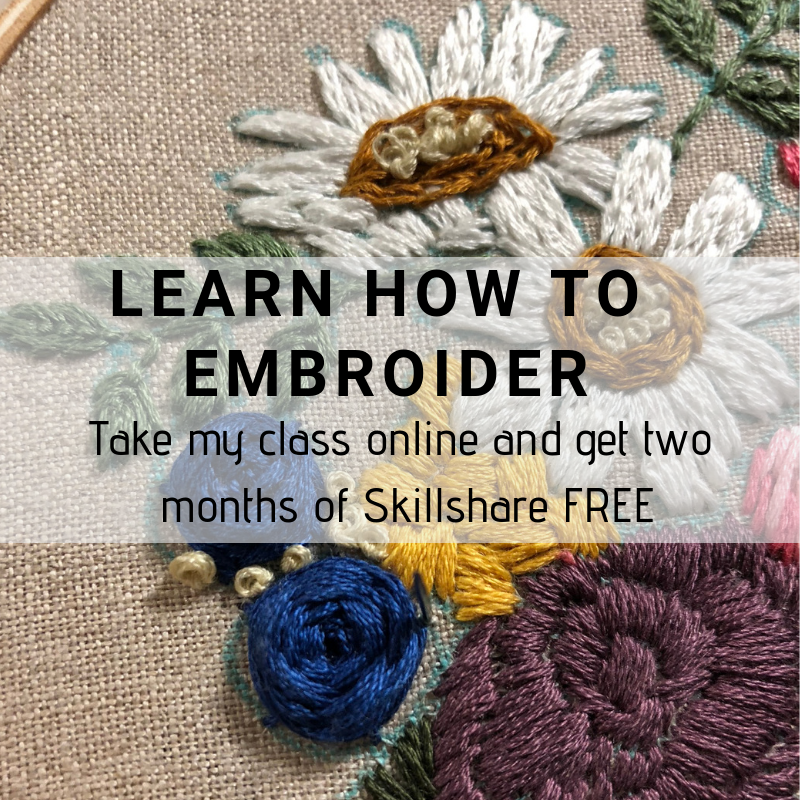 online embroidery class