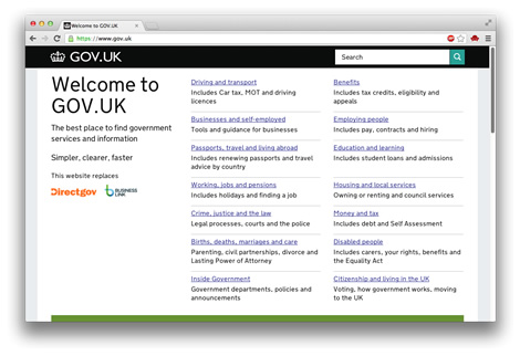 GOV.UK - homepage