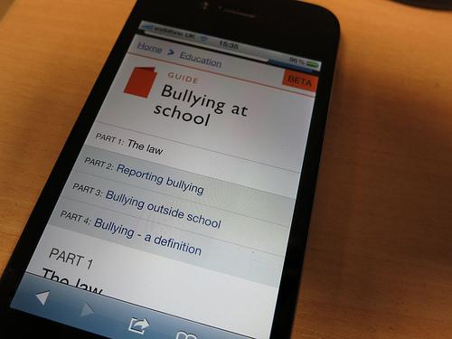 GOV.UK on a smartphone