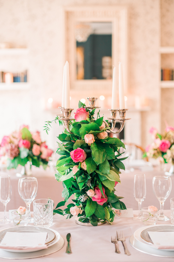 Wedding flowers and styling, dusky pink, London