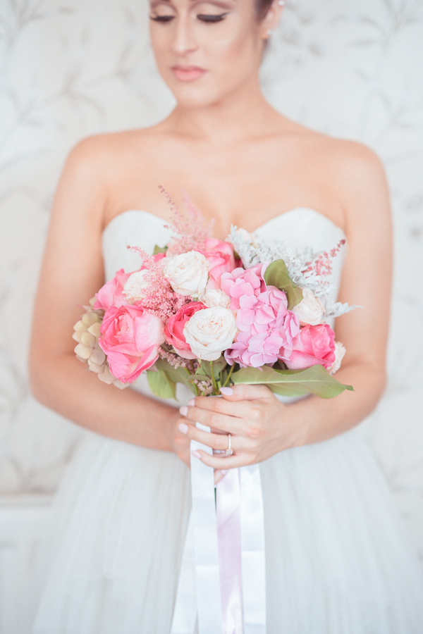 Pink Blush Rose Wedding Bouquet