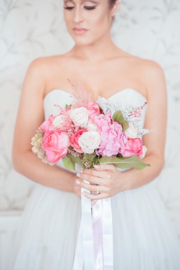 Pink Blush Rose Wedding Bouquet