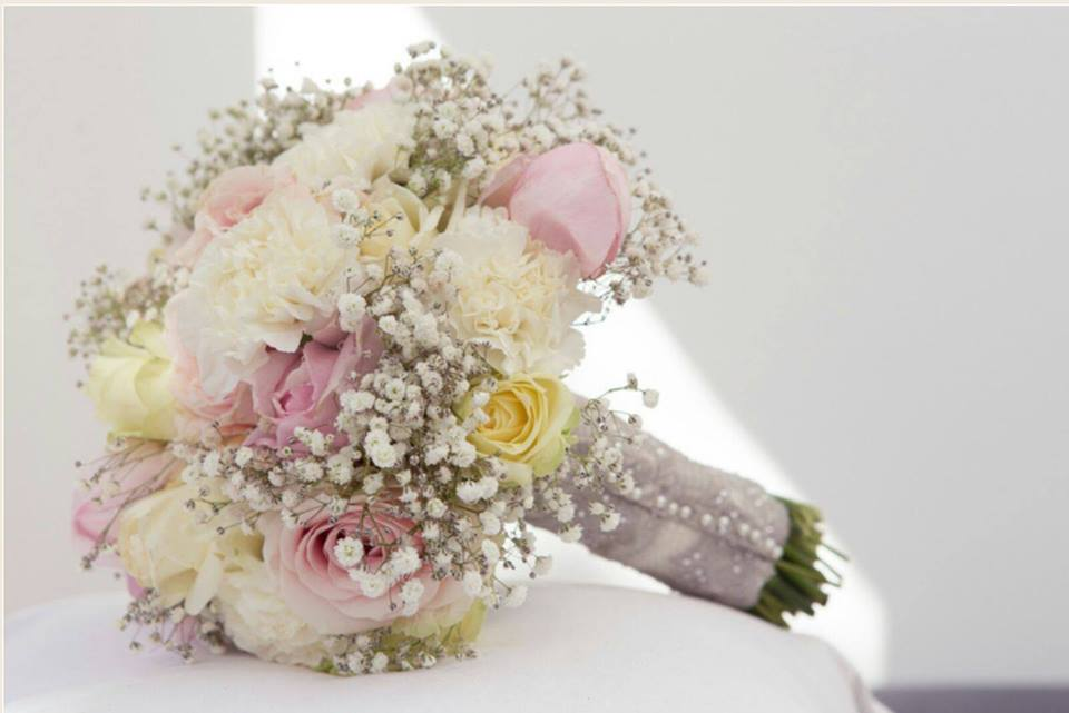 Pastel pink, Rose Wedding Bouquet