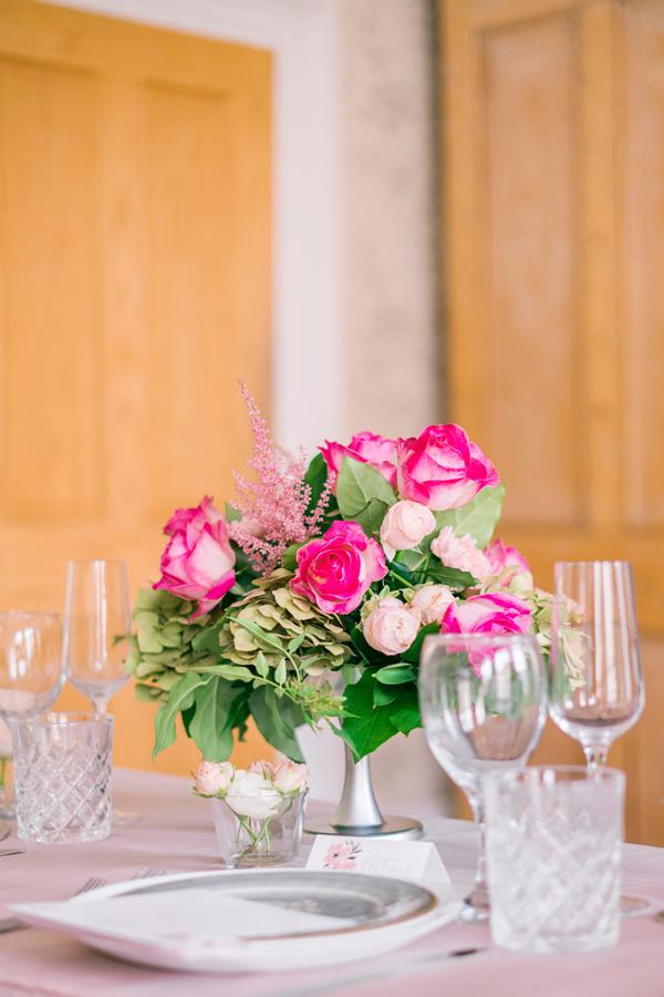 Dusky pink compote Floral design