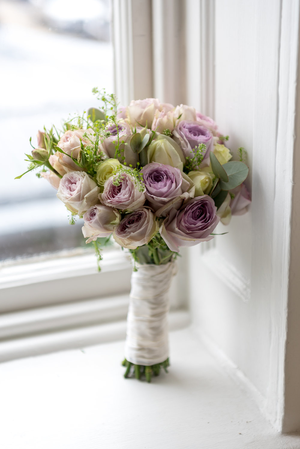 Wedding Bouquet |Pink Lavender and Gold| Wren House, Royal Chelsea, London UK