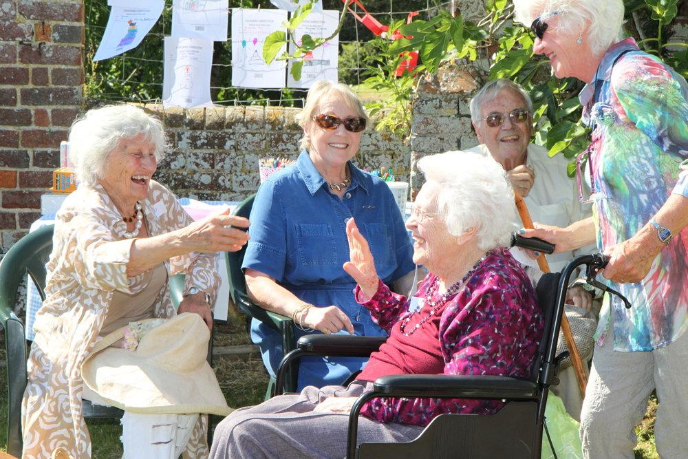 Hankham Get Together (12) -  Mrs Funnell oldest resident.JPG
