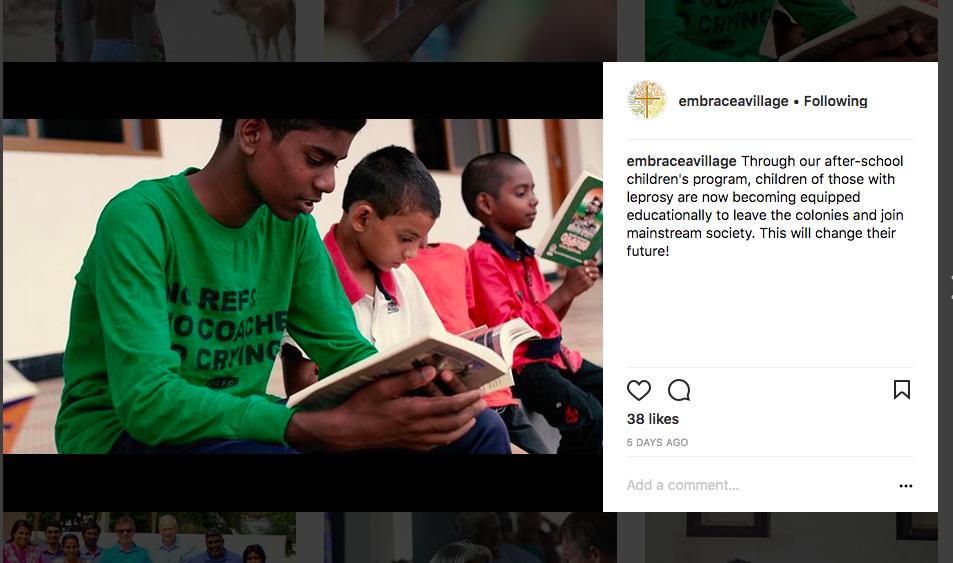 Cory Edwards Instagram Non-Profit Social Media Post