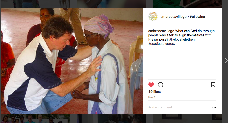 Cory Edwards non-profit social media post