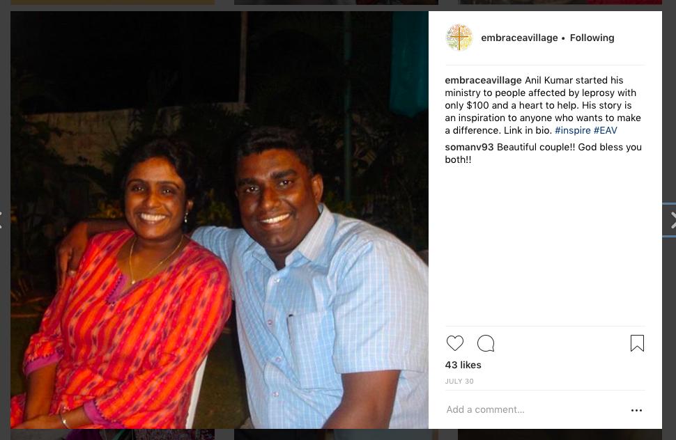 Anil and Rose Social Media