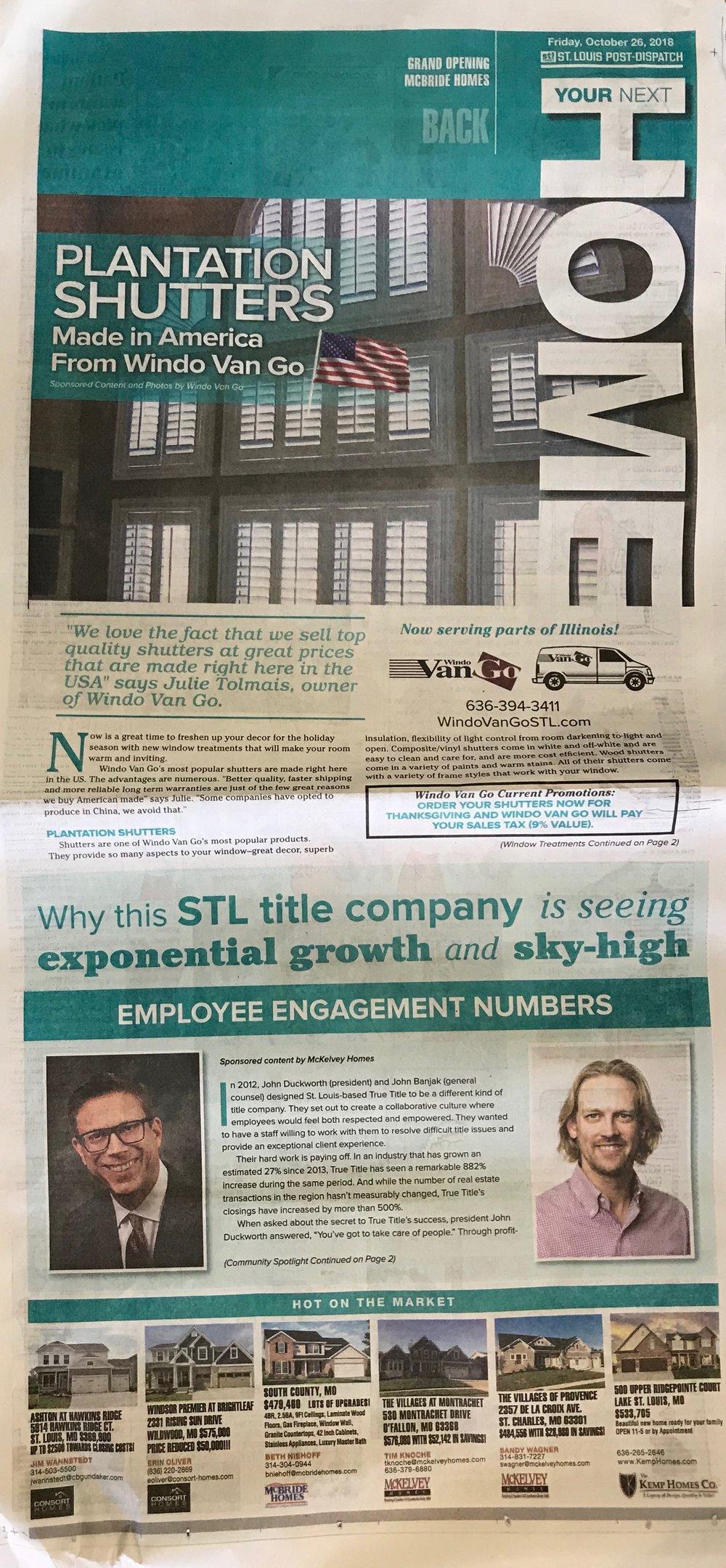 St Louis Post-Dispatch Advertorial Copy