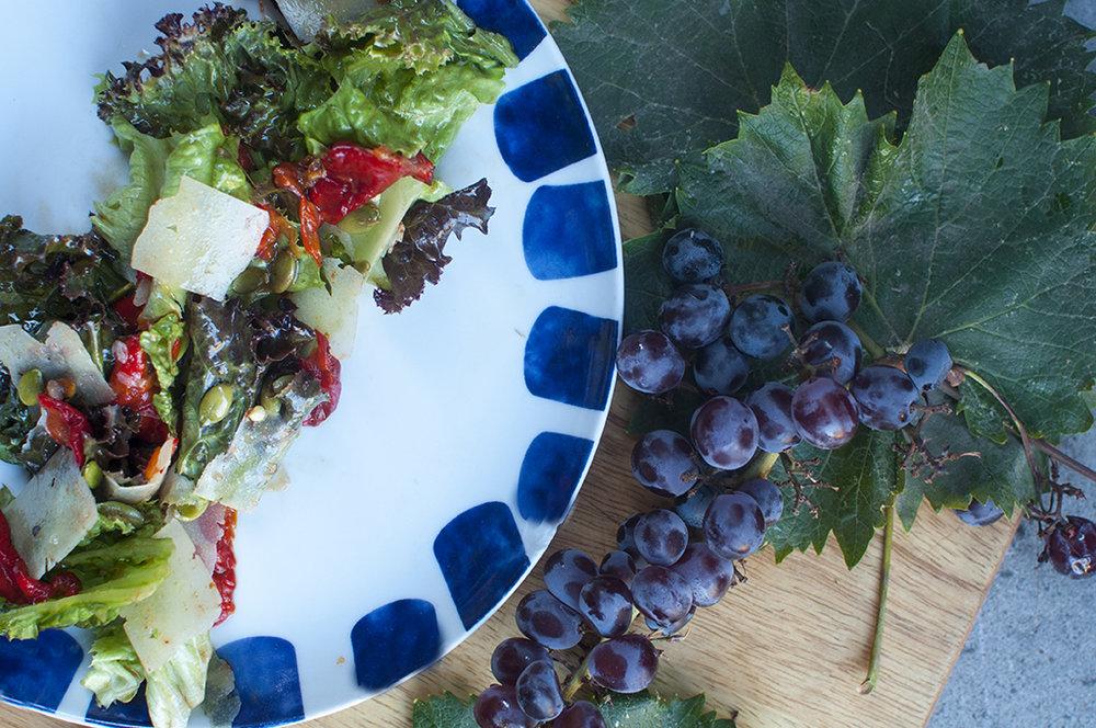salad with roasted grape vinaigrette.jpg