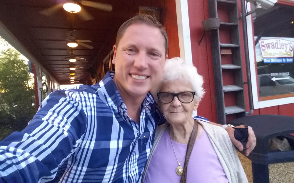 One of Brian's biggest supporter is Memaw, Maxine Thornton.