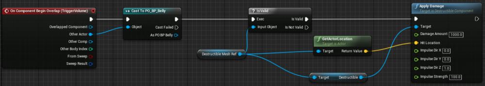 Fig 5 -  Detonator trigger blueprint