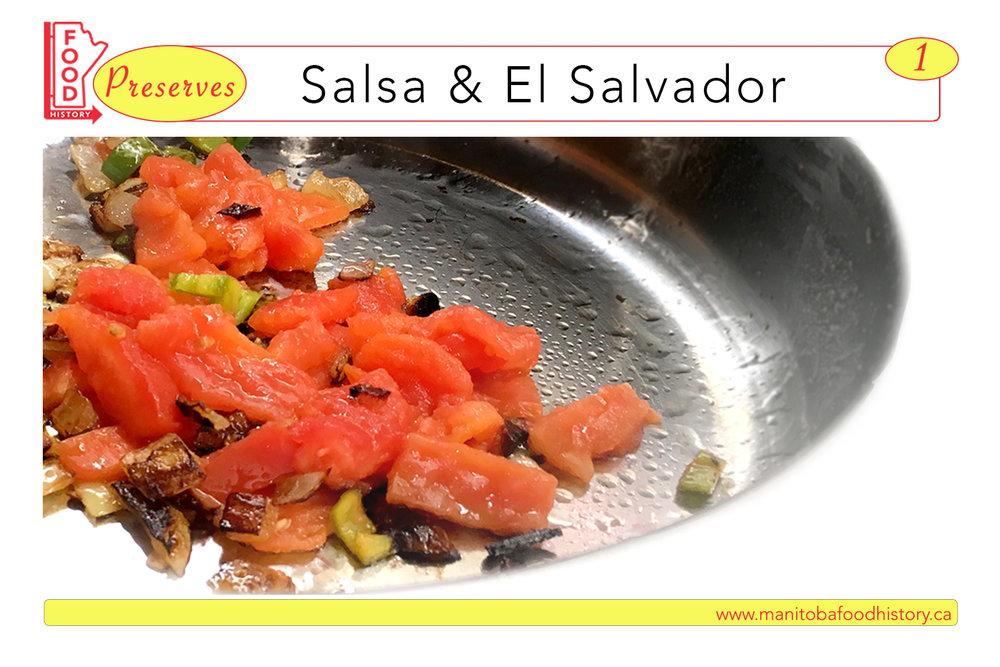Salsa & El Salvador Postcard Image