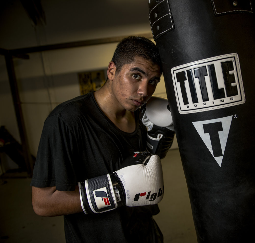 "Sacramento amateur boxer Angel Rios' ultimate goal was to win a gold medal at the 2016 Olympics in Brazil. In 2013, the aspiring olympian won bronze in the National Junior Olympics in the light-welterweight class. ""My goal is to be great not good… Doing stuff that not other people do. So if it takes running the extra mile, going the extra round on the bag, sparring, not going out and that's what it's going to take… Normal stuff that kids might want to do, I don't do none of that. I just stay in the house and watch a lot of boxing and just train in the morning and train at night like I am right now,"" he said."