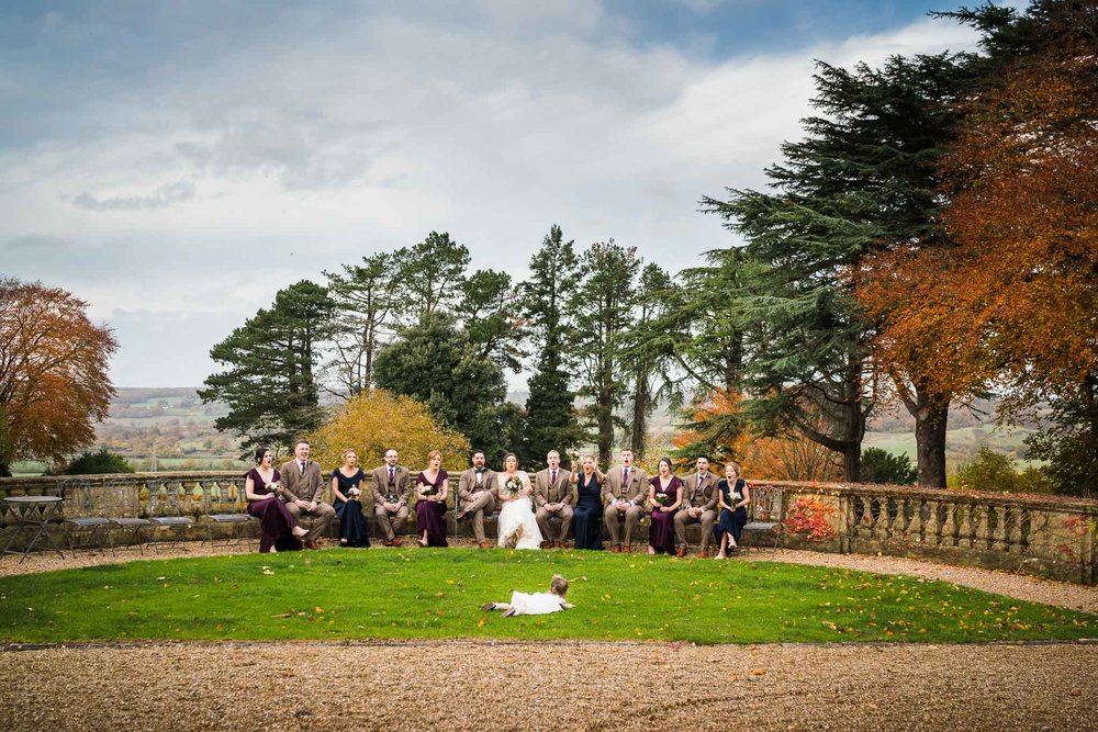Somerset Wedding Photographer, Coombe Lodge Wedding Photography, Bridal Party in Autumn