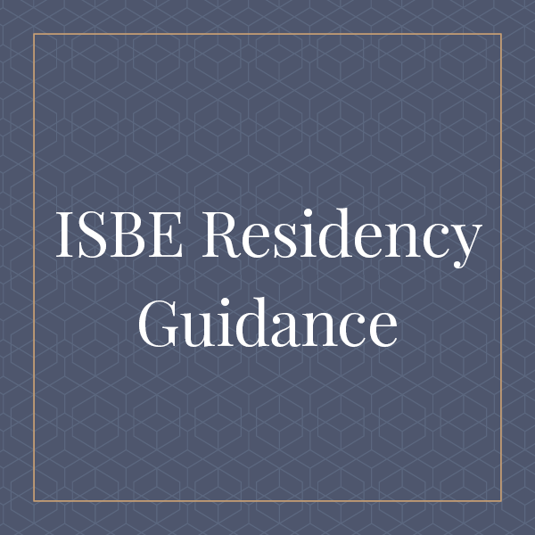 ISBE Residency Guidance