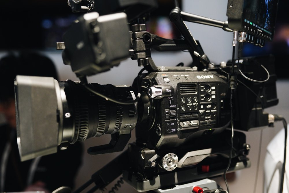 Sony FS7 Mark ii , also with Variable ND.