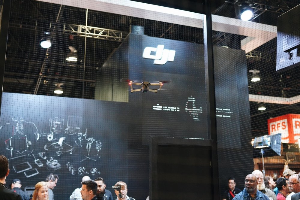 Love seeing the  Dji's Mavic Pro , Rough Edit Inc's current workhorse drone, on display at the DJI booth.