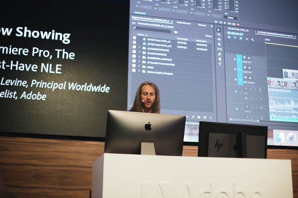 Jason Levine  is one of the best when it comes to comprehensively introducing an Adobe product. Plus he has a great sense of humor to get the crowd excited.