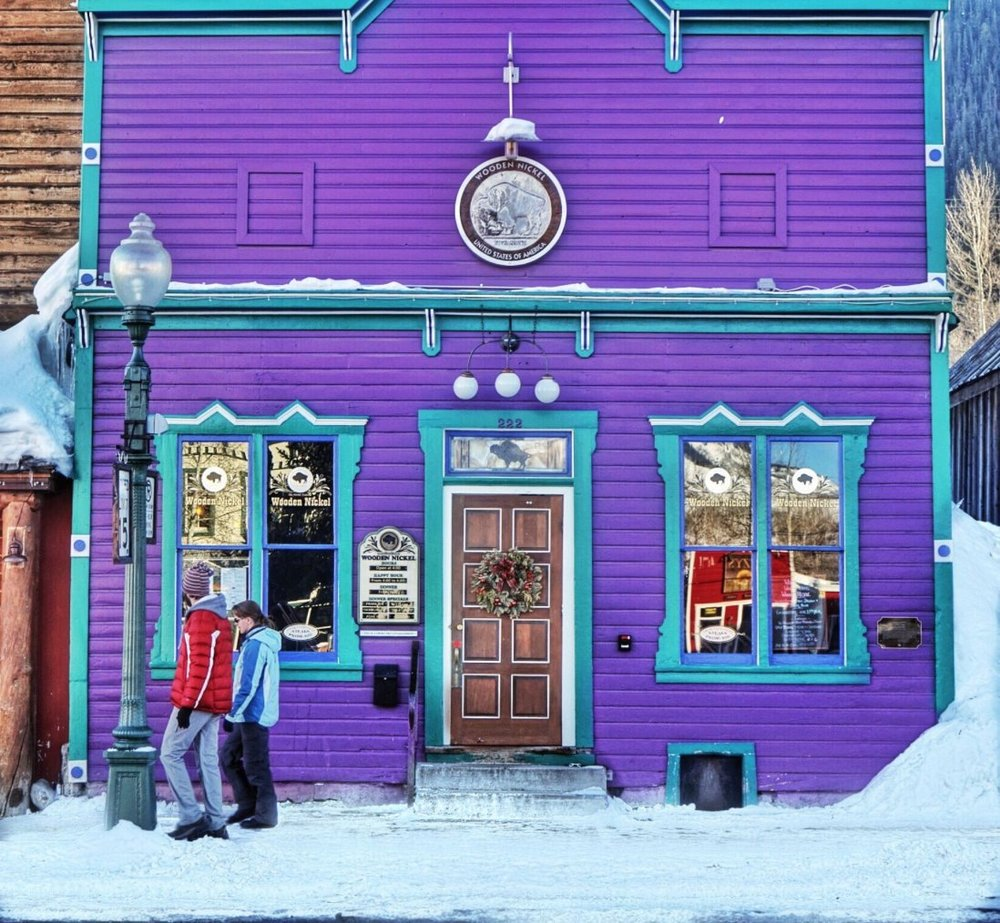 The Wooden Nickel steak house in Crested Butte, CO