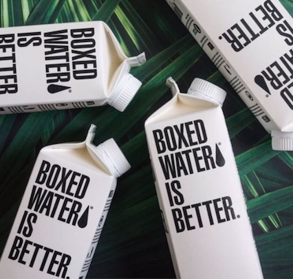 BOXED WATER I BETTER PACKAGING, BETTER PLANET